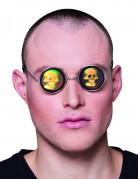 Ronde bril met schedel hologram