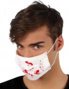 Wit masker met bloedvlekken
