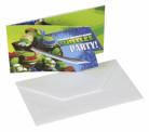 Set van 5 Ninja Turtles™ uitnodigingen + enveloppen