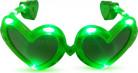 Lichtgevende groene bril in hartjes vorm volwassenen