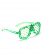 Groene lamellen bril met lichtjes