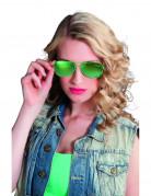 Groene politie bril voor volwassenen