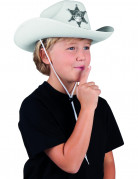 Wit Sherif hoed voor kinderen