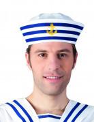 Gestreept marine matrozen hoedje voor volwassenen