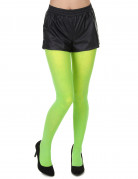 Fluo groene panty voor volwassenen
