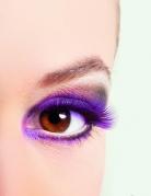 Korte paarse valse wimpers voor vrouwen