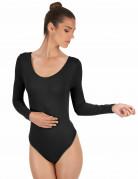 Zwarte bodysuit voor volwassenen
