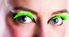 Korte valse wimpers fluo groen voor volwassenen