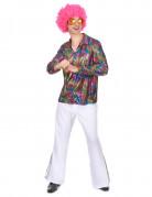 Veelkleurig disco overhemd voor heren