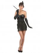 Zwart charleston kostuum voor vrouwen