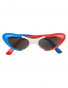 Vierkante Frankrijk supportersbril voor volwassenen