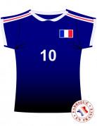 Muurversiering Frans voetbalshirt