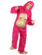 Roze en beige gorilla pak voor volwassenen