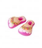 Roze opblaasbare slippers voor volwassenen