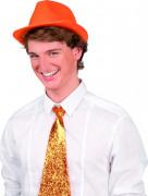 Oranje Borsalino hoed voor volwassen