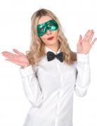 Metaal-groen masker voor volwassenen