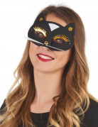 Zwarte katten masker voor volwassenen