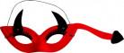 Duivel masker rood voor volwassenen Halloween