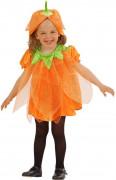 Halloween outfit pompoen met lovertjes voor kinderen