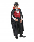 Vampier cape in het rood voor kinderen Halloween kleding