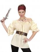 Beige piraten blouse voor vrouwen