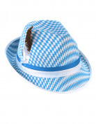 Blauw-wit Beierse hoed voor volwassenen