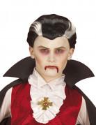 Tweekleurige vampierspruik voor kinderen