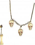 Juwelen set brein voor volwassenen Halloween accessoire