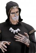 Halsketting met doodskop voor volwassenen Halloween accessoire