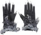 Handschoenen met zilverkleurige nagels