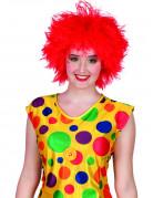 Rode clownspruik voor vrouwen