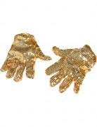 Gouden lovertjes handschoenen voor volwassenen