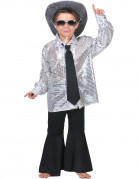 Zilverkleurige hemd voor jongens