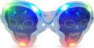 Bril lichtgevend doorschijnend doodskop Halloween accessoire