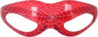 Lichtgevende rode spinnenweb bril
