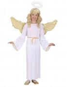 Verkleedkostuum goudkleurige engel voor kinderen