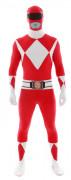 Rood Morphsuit™ Power Rangers™ kostuum voor volwassenen