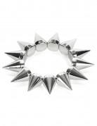 Zilverkleurig punk armband