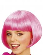 Korte roze cabaret pruik voor meiden