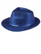 Blauwe hoed met lovertjes voor volwassenen
