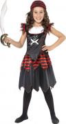 Zwarte piraten kostuum voor meisjes