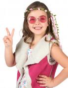 Roze bloemen krans voor kinderen