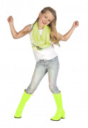 Fluo gele lak laarzen voor kinderen