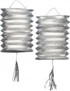 Set zilverkleurige lantaarns