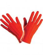 Korte rode handschoenen voor volwassenen