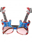 Amerikaanse rockgitaar bril voor volwassenen