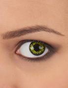 Gele contactlenzen met zwarte rand voor volwassenen