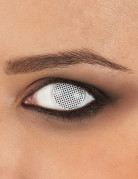 Witte contactlenzen met raster