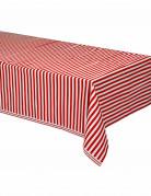 Rood en wit gestreept tafelkleed