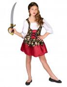 Goudkleurige schedels piraten kostuum voor meisjes